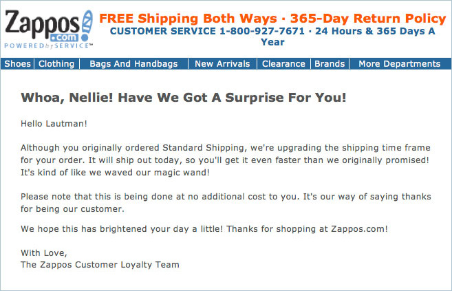 Zappos Email
